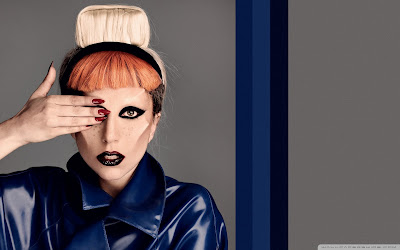 Lady Gaga Latest  hairstyle HD wallpapers 2012