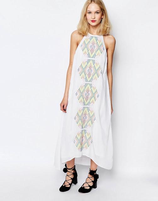 piper bima white dress, embroidered white halter dress,