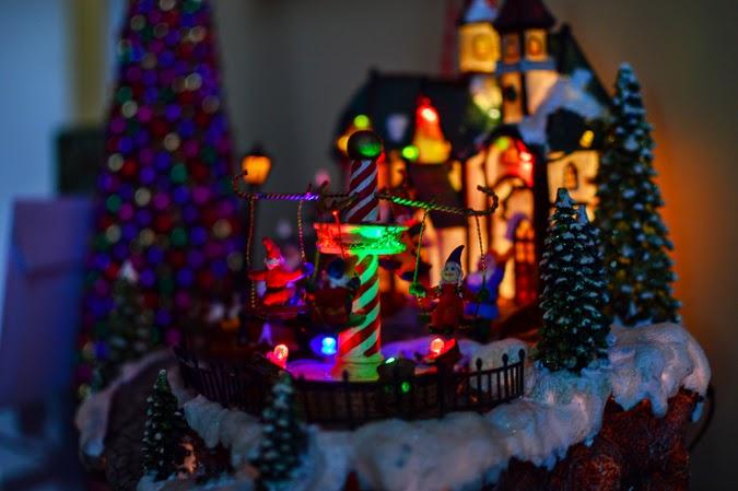 Christmas carousel decor