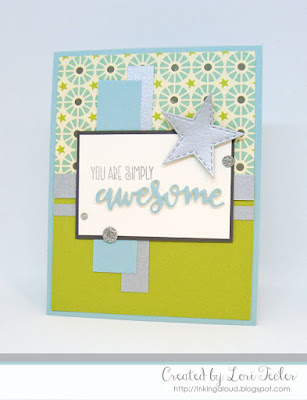 You Are Simply Awesome card-designed by Lori Tecler/Inking Aloud-stamps from Verve Stamps