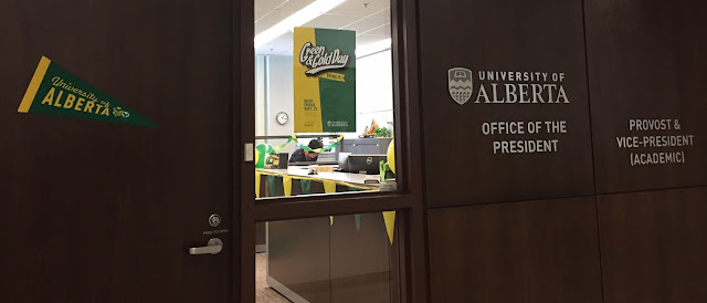 Green and Gold Day in the Office of the President - University of Alberta