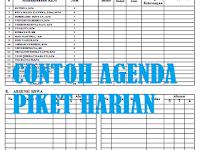 Format Agenda Piket Harian Guru dan Siswa di Sekolah Versi Excel