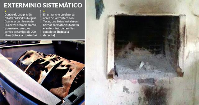 Los Zetas quemaban personas (incluyendo niños) dentro y fuera del penal de Piedras Negras