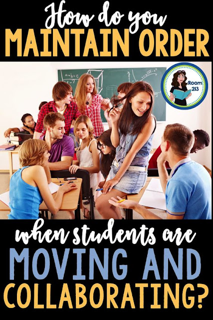 English teachers: how do you maintain order when the activity has your kids up and moving? Click to find out what Room 213 does when her students are collaborating.