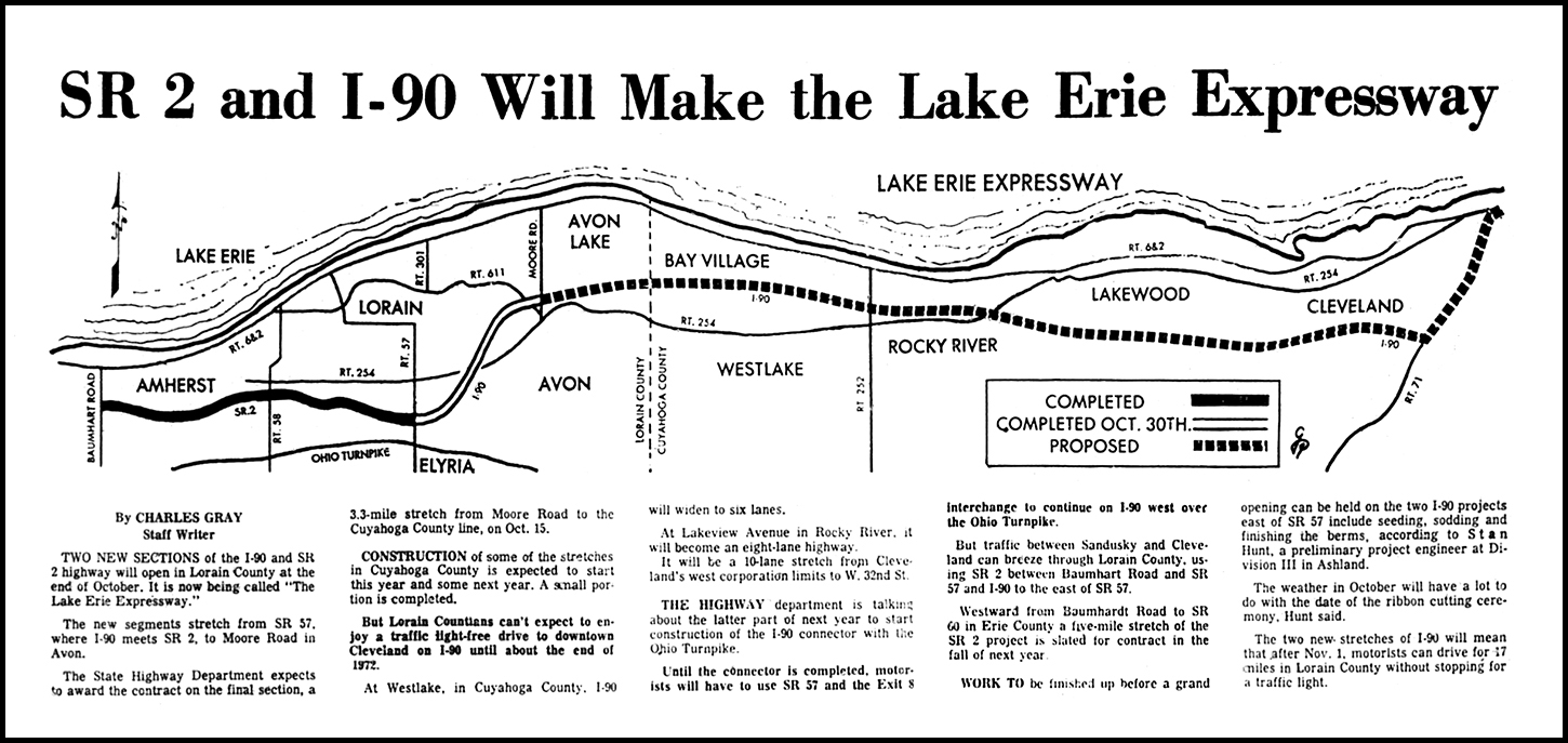 i ve featured quite a few articles over the last few years about the construction of i 90 as well as the new route 2 through northeast ohio