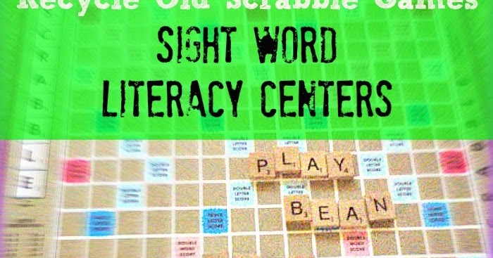 Recycle Scrabble Games For Language Arts Literacy Centers