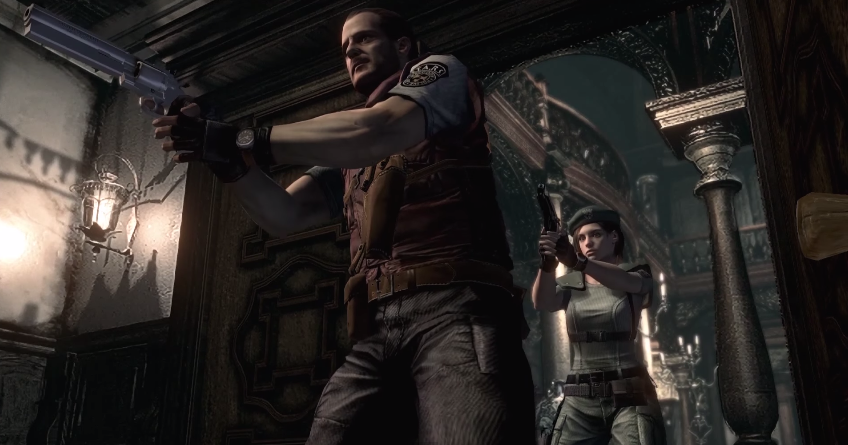 Barry and Jill in the Resident Evil REmake