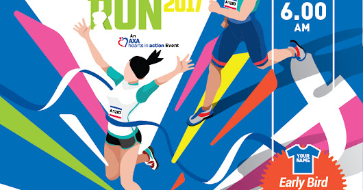 Choose Your Colour And Run For Your Cause:  AXA Hearts In Action Run 2017 Aims For 8,000 Runners!
