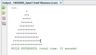 Contoh Coding Bintang Piramida di Java Netbeans