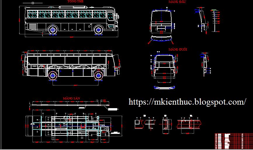 Bản vẽ lập quy trình bảo dưỡng định kỳ và sửa chữa lớn ôtô khách