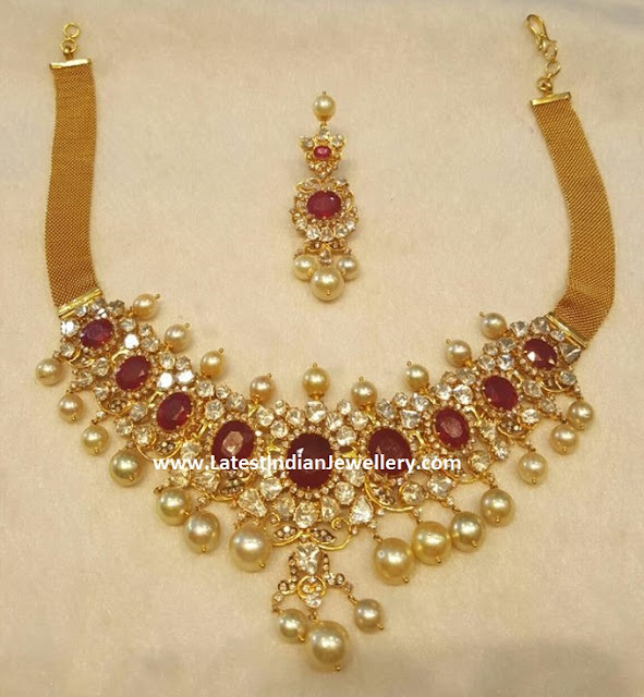 Polki Ruby Choker Set