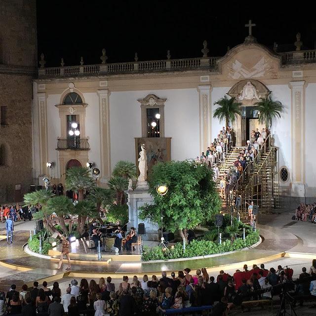 alta sartoria, dolce gabbana, catedral monreale, fashion shows