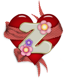 Abecedario dentro de Corazón Rojo.