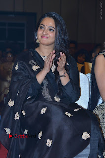 Actress Anushka Anushka Shetty Stills in Black Salwar Kameez at Om Namo Venkatesaya Audio Launch Event  0028.JPG