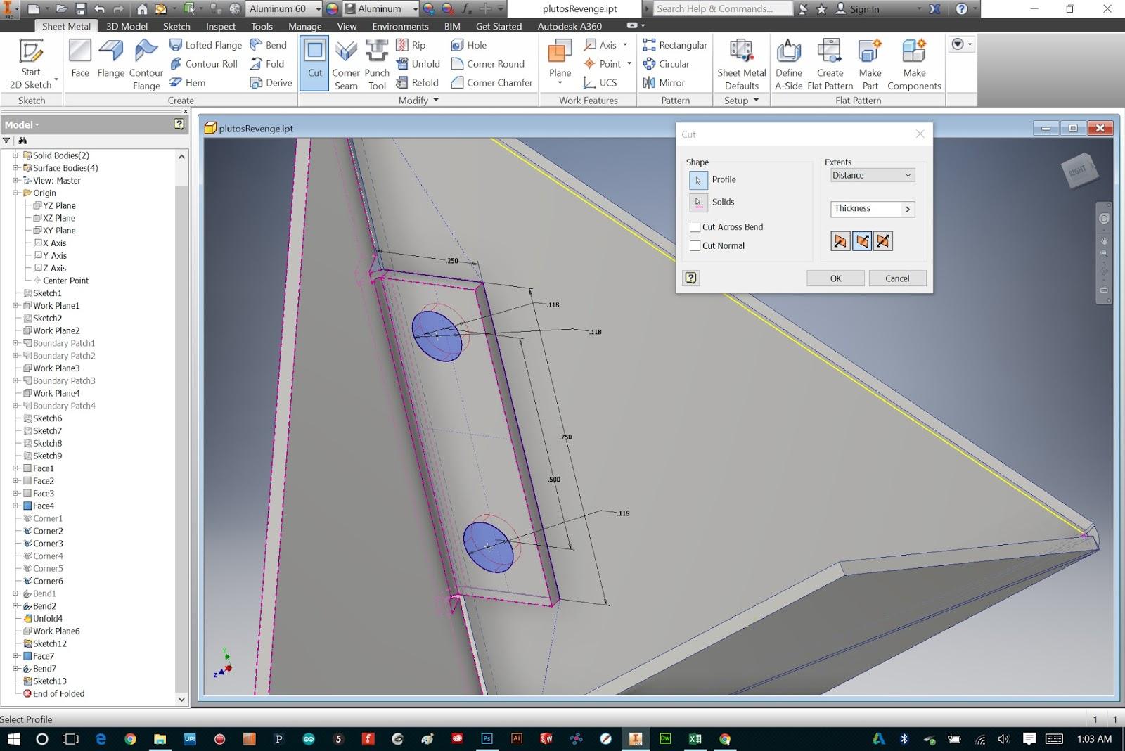 Bryan Cera Autodesk Inventor Sheet Metal Tabs And Fasteners