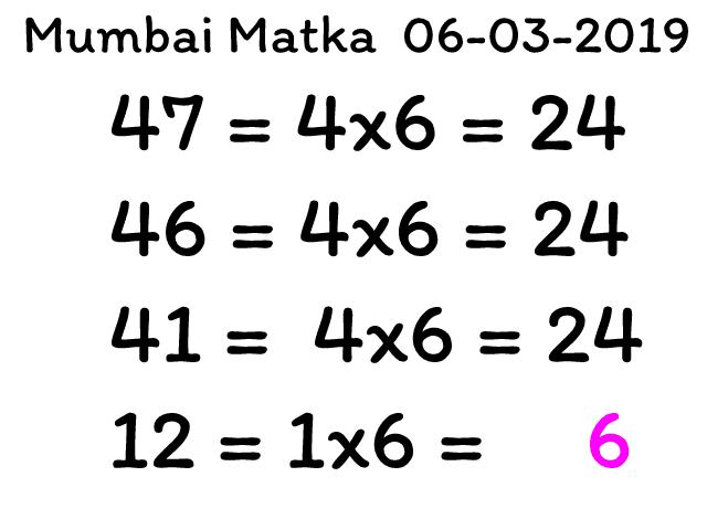 Mumbai Matka 06-03-2019