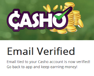Casho account is now verified