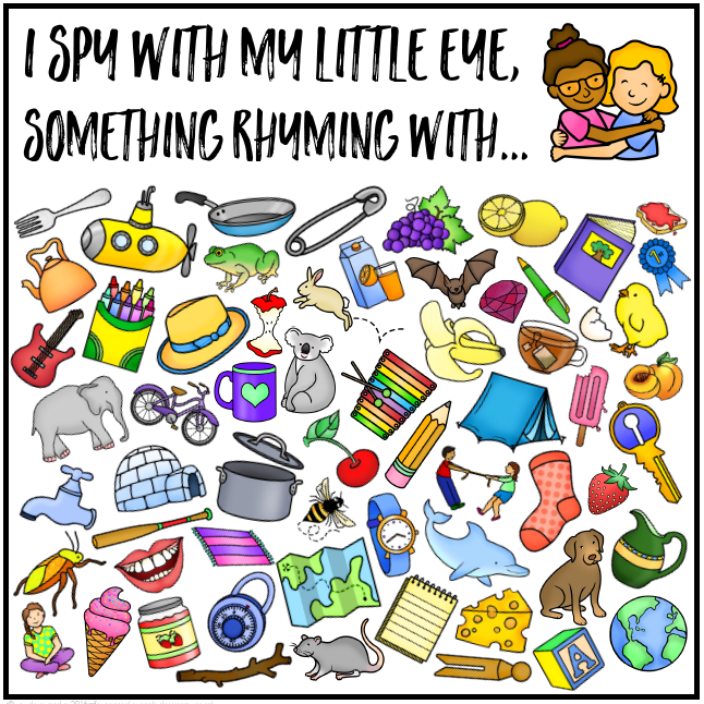 Word Family I Spy Mats - ready to print I Spy mats for common word family patterns. Perfect for literacy centers or Daily 5 Word Work, these I Spy CVC word mats are a fun way to hear and identify rhyme | you clever monkey