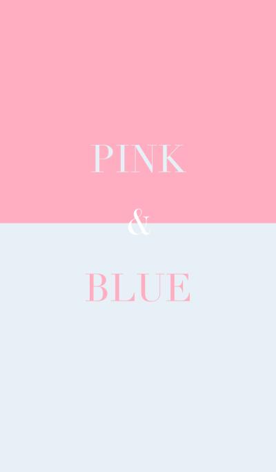 pink & blue .