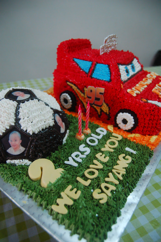 Cantik Cupcake 3d Cakes Cars Ligthning Mcqueen Amp Ball
