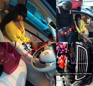 Tonto dikeh's ex boyfriend bought his fiancee, deola, a brand new benz worth N45m