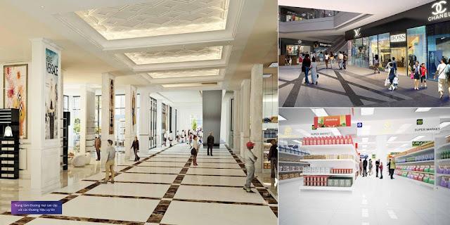 Siêu thị mua sắm tại Trung Yên Smile Building