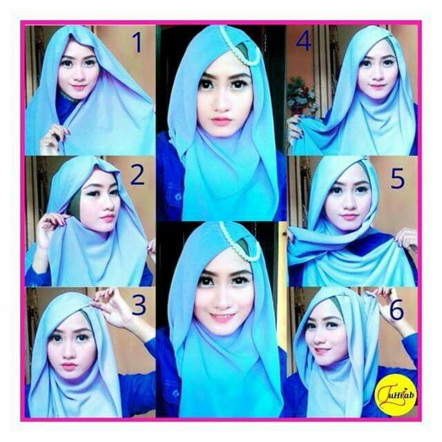 Download buku tutorial hijab segi empat pesta