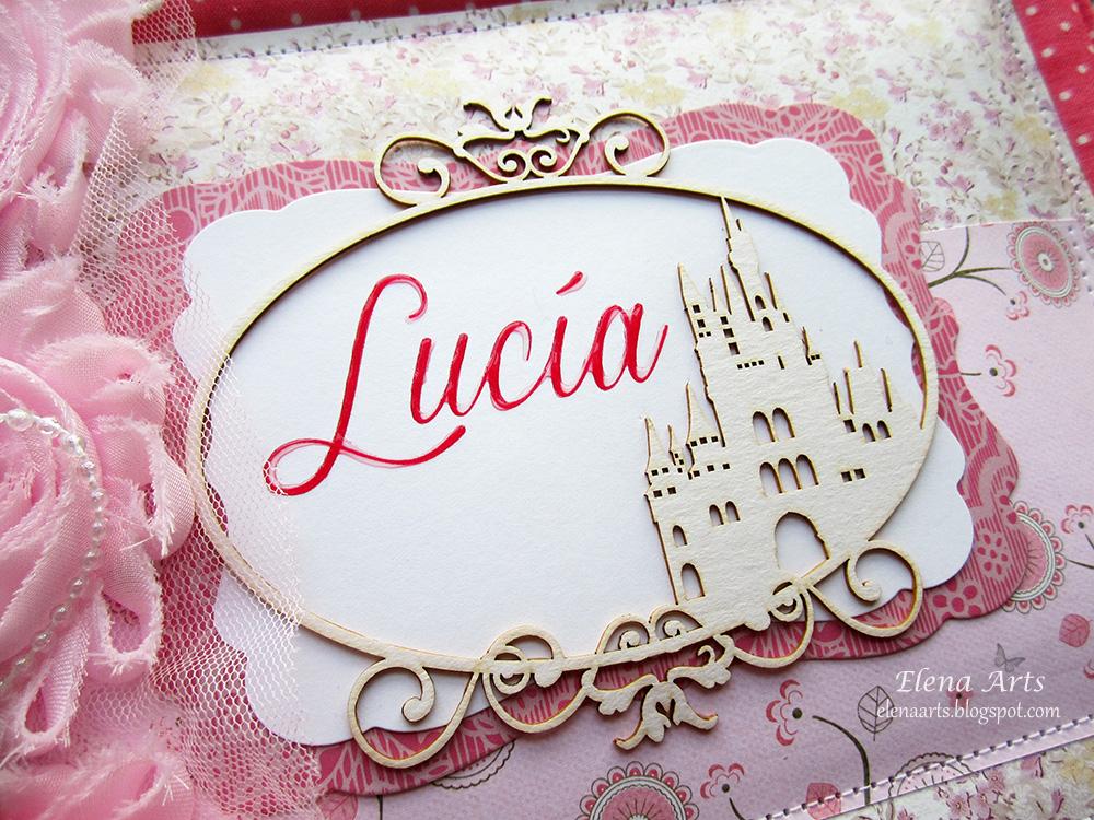 Elena Arts: Libro de firmas para la Primera comunión de Lucía. \