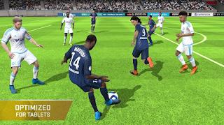 pertandingan sepak bola pada Android