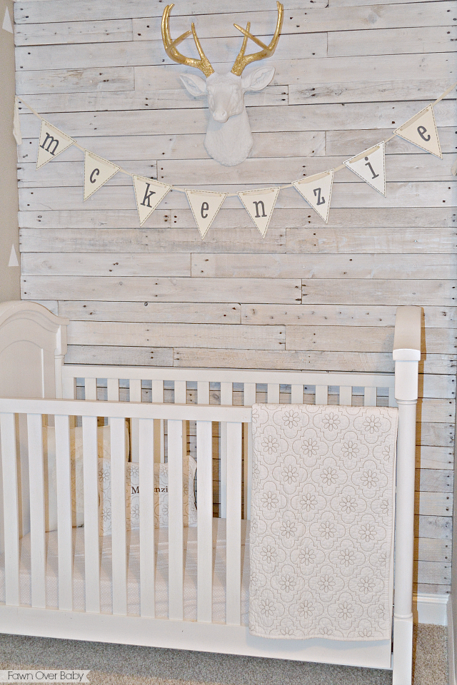 Fawn Over Baby Diy White Washed Pallet Wall