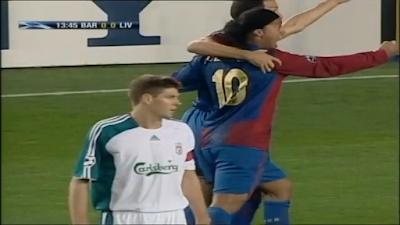 Classic UEFA : Barcelona 1 vs 2 Liverpool 21-02-2007