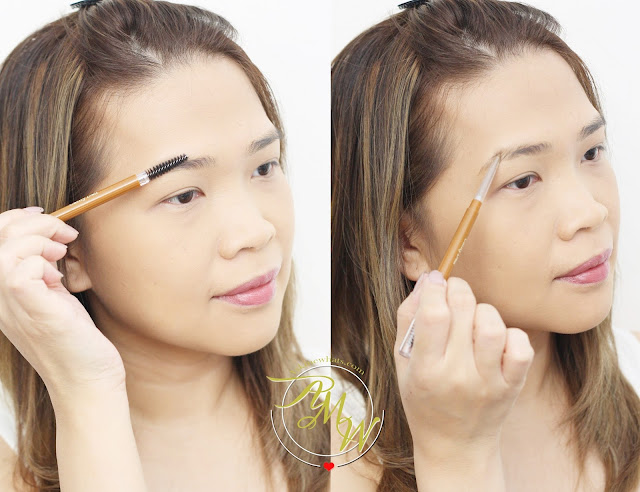 a photo on how to apply Cathy Doll Sexy Eyebrow Pencils