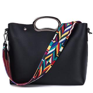 cool colorful swag black bag.