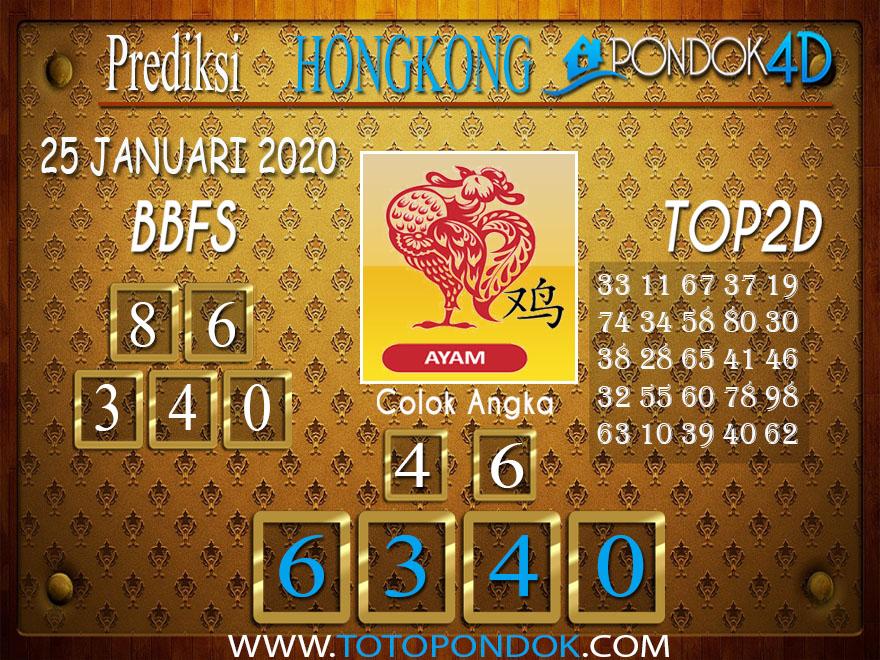 Prediksi Togel HONGKONG PONDOK4D 25 JANUARI 2020