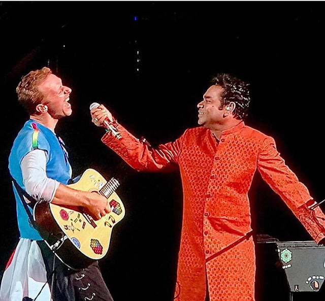 Rahman, Chris martin at Global Citizen festival india