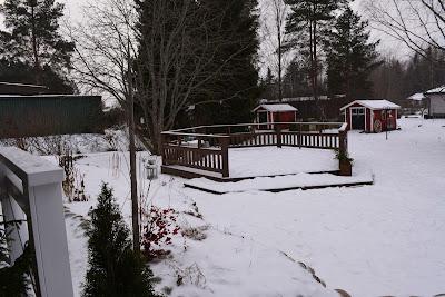 terassi talvella lunta lumi talvi
