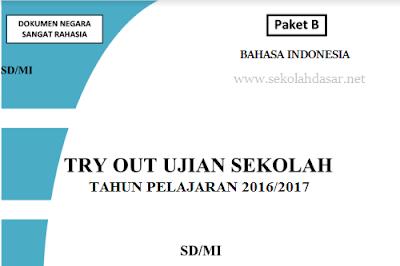 Soal Bahasa Indonesia US SD 2017 dan Kunci Jawaban