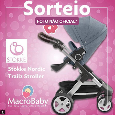 Sorteio de um Carrinho de Bebe Passeio Stokke Scoot Black Completo