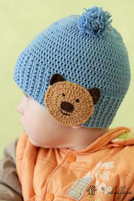 шапочка детская вязаная