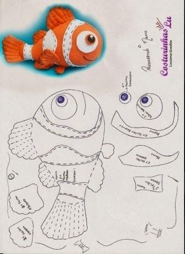 Nemo - free crochet pattern | Crochet toys patterns, Crochet ... | 513x374