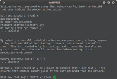 "Dissallow root login (defult access name ""test"")"