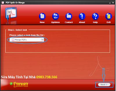 Cắt file PDF với PDF Siplit Or Merge - H10