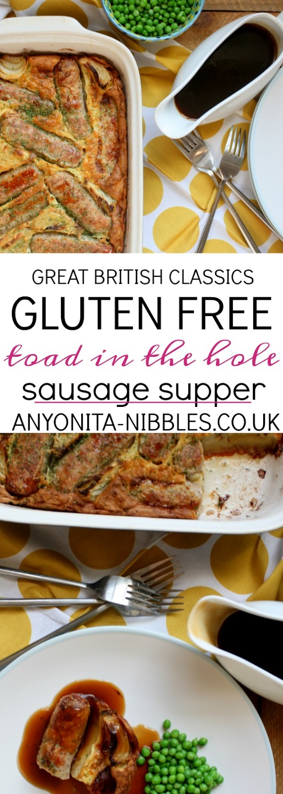 This easy sausage casserole is a crowd pleasing family favourite; a classic British meal suitable for coeliacs!