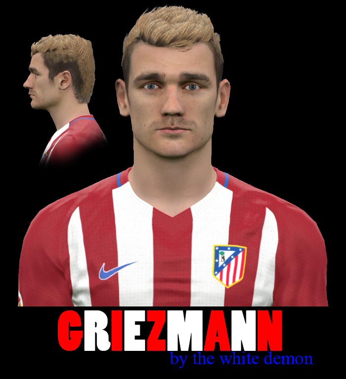 PES 2017 Griezmann Face By The White Demon