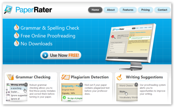 PaperRater Proofreading Tool