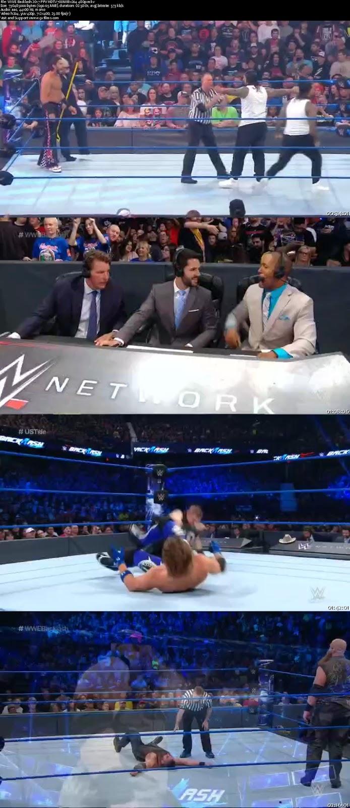 WWE Backlash 2017 PPV HDTV 480p