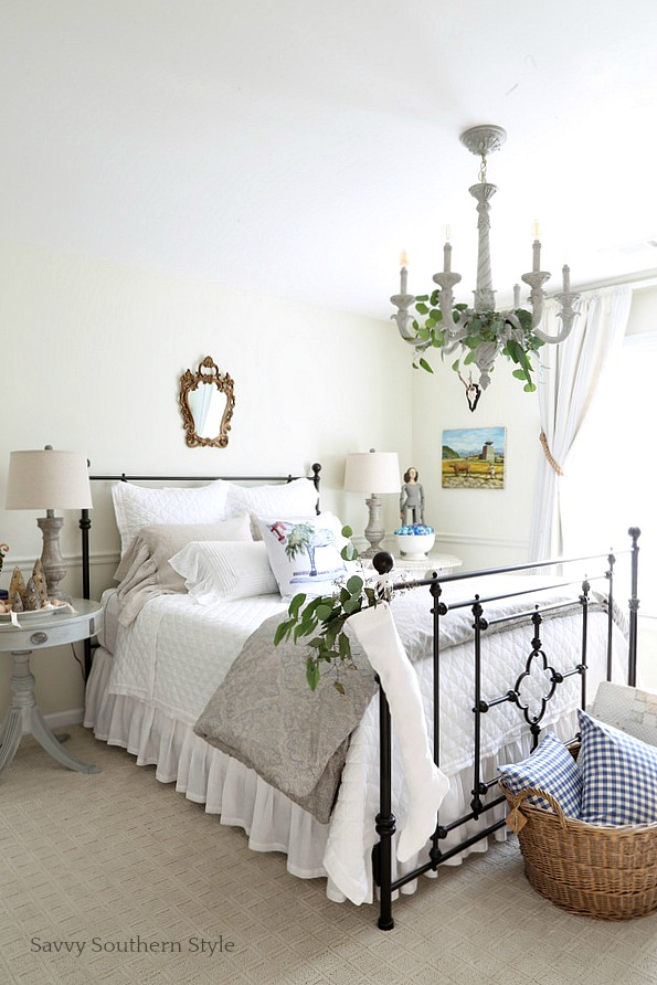 Savvy southern style french country christmas guest bedroom for Southern style bedroom