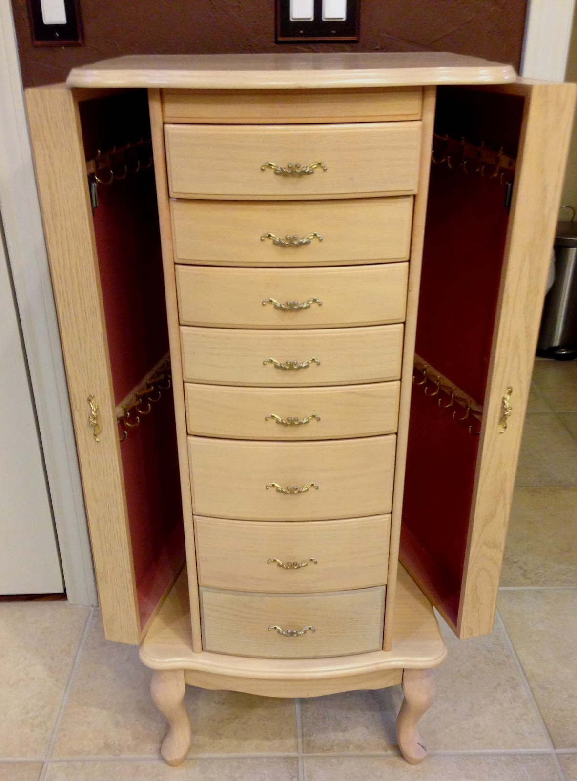 Chalk Painted Jewelry Armoire