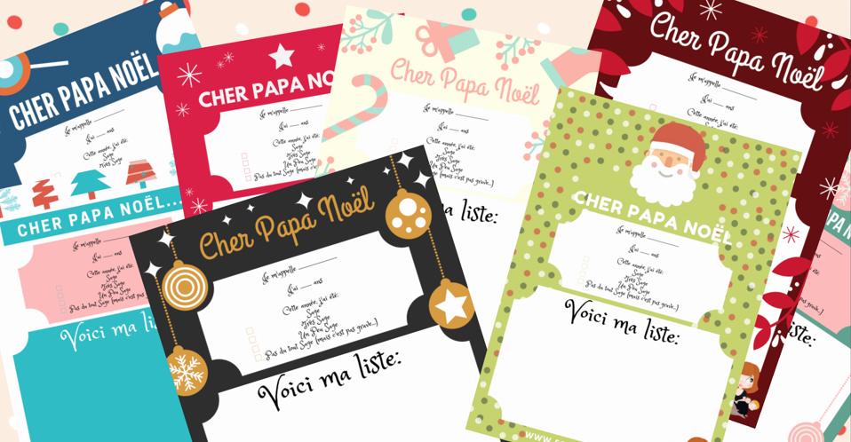 Modele Lettre Pere Noel Gratuit GRATUIT ! Je vous offre 8 modèles de lettre pour le Père Noël