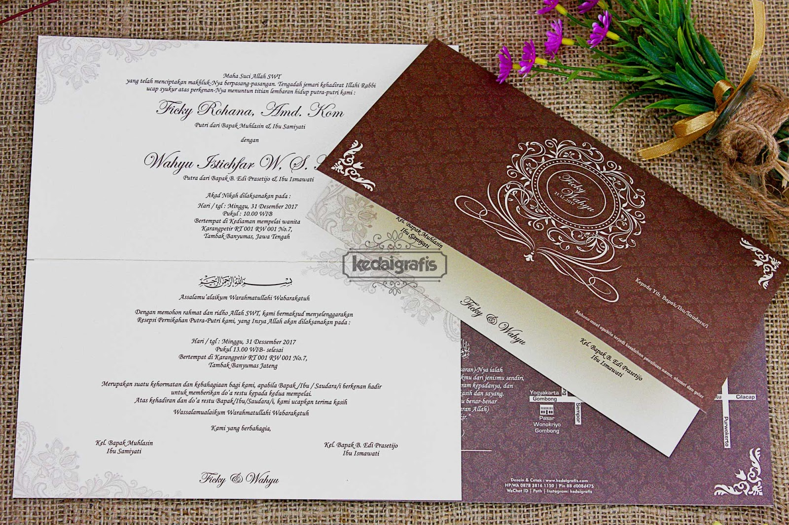 Contoh Undangan Pernikahan Yang Simple